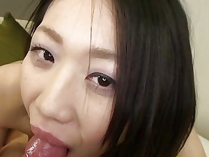 Subtitles uncensored Japanese blowjob and romp POV