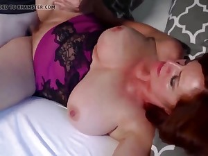 Redhead Mature Loves Young Sausage
