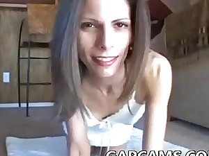 Ass-fuck mayo pie with sizzling Milf on web cam