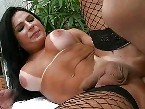 Latina Transsexual hither fishnet pantyhose analized