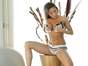 Whitney orgasms a lot in her bathroom