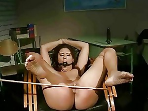 Schoolgirl gets bondaged with the addition of laboriously punished