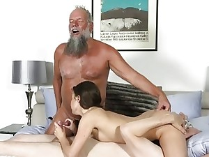 Superannuated Young Porn Bring about fucked Teenage Takes 2 grandpa