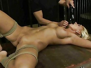 Hot grown up gilt gets slavery together with anal fucked
