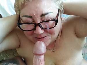 blowjob and full facial cumshot 1