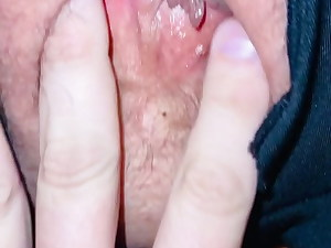 Finger Penetrating bbw wife  in ripped leggings.