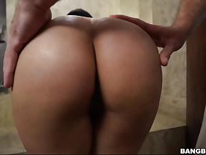 Hot Latina got it after douche