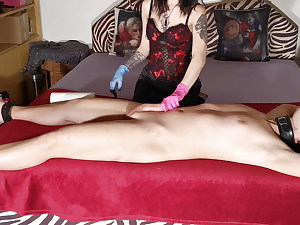 Authoritative stepsister gives ruined handjob for her stepbrother pt2