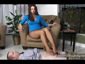 Pantyhose footjob torture