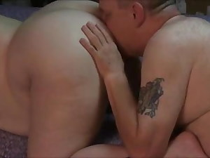 Bbw getting her arse ate