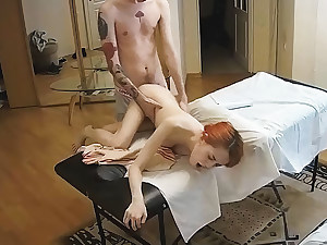 Red-haired Tight Pussy Damsel Has Hard Nail After Massage