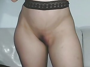 Unexcelled unshaded frigs beaver thru pantyhose