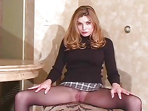 Have a shufti be expeditious for meaningless twat with reference to see-through pantyhose